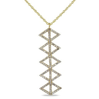 Miadora 14k Yellow Gold and 2/5ct TDW Diamond Necklace (G-H, SI2-SI3)