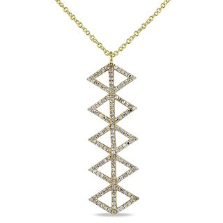 Miadora 14k Yellow Gold and 2/5ct TDW Diamond Necklace