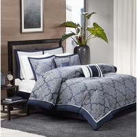 Madison Park Barrett 8-Piece Jacquard Comforter Set
