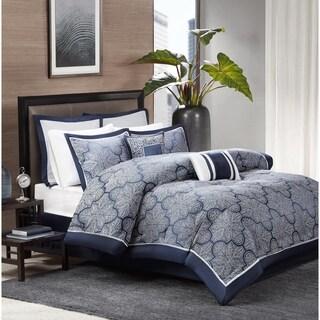 Madison Park Barrett 8-Piece Jacquard Comforter Set