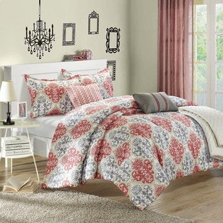 Chic Home Vegas Luxury Reversible 6-piece Comforter Set