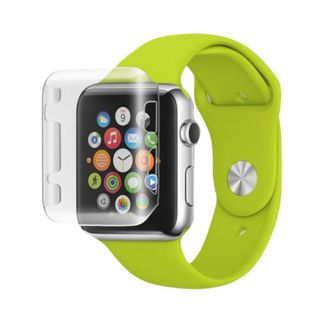 Insten Slim TPU Rubber Candy Skin Smart Watch Bumper Frame For Apple Watch 38mm