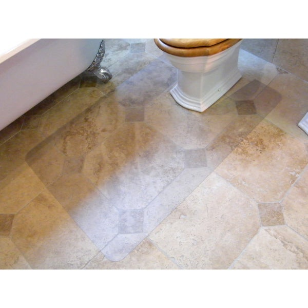 """Hometex Biosafe   Anti Microbial Toilet Floor Mat   Rectangular with Cut Out   Size 48"""" x 24"""" - 24 X 48"""