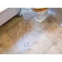 "Hometex Biosafe | Anti Microbial Toilet Floor Mat | Rectangular with Cut Out | Size 48"" x 24"""