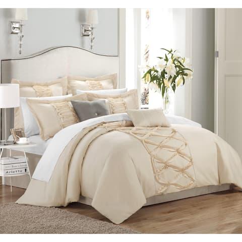 Gracewood Hollow Khadra 8-piece Ruffled Comforter Set