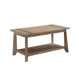 Viewpoint Planktop Oak and Metal Cocktail Table