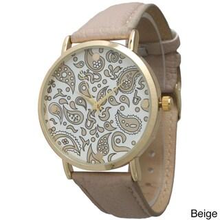 Olivia Pratt Women's Simple Paisley Leather Watch
