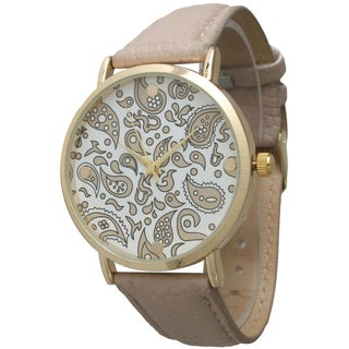 Olivia Pratt Women's Simple Paisley Leather Watch