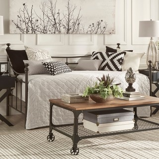 TRIBECCA HOME Xander Dark Brown Steel Metal Daybed