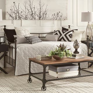 Xander Dark Brown Steel Metal Daybed By INSPIRE Q Classic