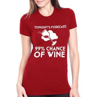 Women's 99-percent Chance of Wine Tonight Cotton T-shirt