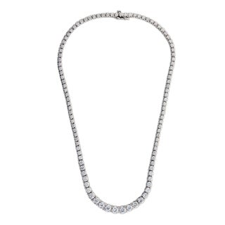 Suzy Levian 14K Gold Riviera 11.35ct TDW Diamond Necklace (G, SI1)