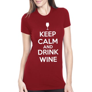 Women's Keep Calm and Drink Wine Cotton T-shirt