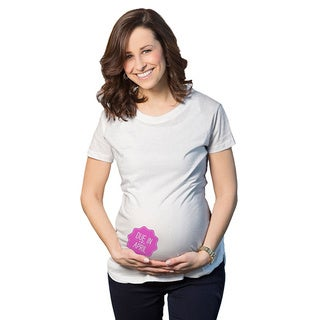 Women's Maternity Due In... April Girl Cotton T-shirt