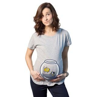 Women's Maternity Golfish Fish Bowl Cotton T-shirt