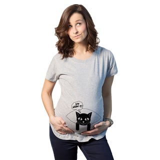 Women's Maternity Let Meow-t Cotton T-shirt