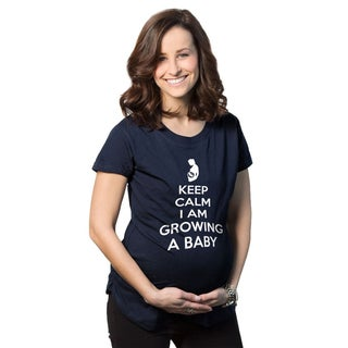 Women's Maternity Keep Calm I Am Growing a Baby Cotton T-shirt