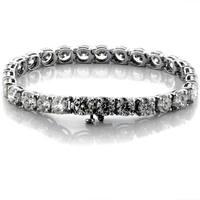 Suzy Levian 14K Gold 20.30ct TDW Diamond Tennis Bracelet (J-K, VS1-VS2)