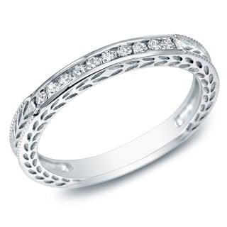 Auriya 10k Gold 1/4ct TDW Diamond Wedding Band (J-K, I1-I2)