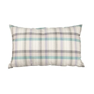 Cream Multi Plaid 12x20-inch Down Alternative Filled Throw Pillow