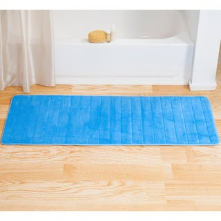 Windsor Home 24x60 Inch Striped Extra Long Memory Foam Bath Mat
