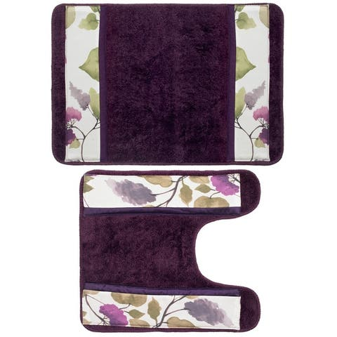 Beautiful Water Color Style Lilac Bath Rug and Contour Set or Separates
