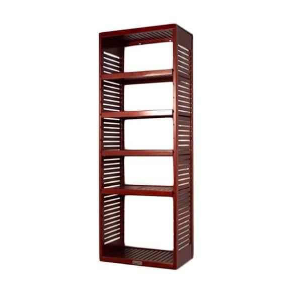 John Louis 16-inch Deep Red Mahogany Standalone Tower with Adjustable Shelves. Opens flyout.