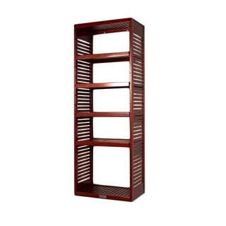 John Louis Home Deluxe 16-inch Red Mahogany Standalone Tower with Adjustable Shelves