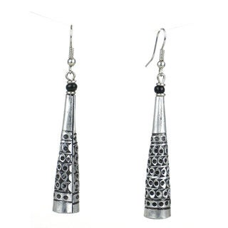 Stamped Recycled Cooking Pot 'Cone' Earrings (Kenya)