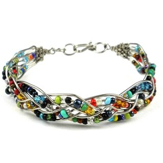 Handmade Woven Silverplated Wire and Colorful Bead Bracelet (Kenya)|https://ak1.ostkcdn.com/images/products/10375814/P17481779.jpg?_ostk_perf_=percv&impolicy=medium