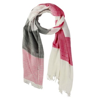 Handmade Saachi Women's Striped Patchwork Scarf (India)