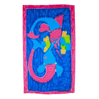 Saachi Women's Hand Painted Sea Fish Cover-up Sarong (India)