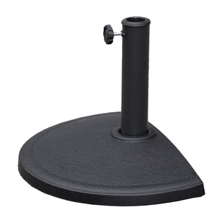 International Caravan St. Kitts Compound Resin Half-round Wall-hugger Umbrella Base