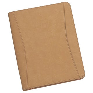 Goodhope Tan Business Zip Around Padfolio