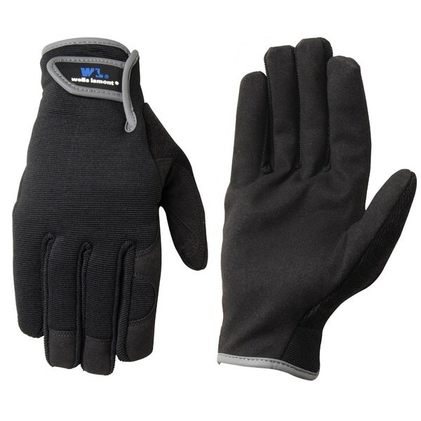 Wells Lamont Synthetic Leather Work Gloves for Mens