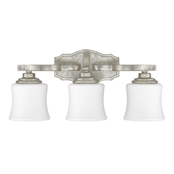 Shop Capital Lighting Blair Collection 3 Light Antique Silver Bath Vanity Free Shipping Today