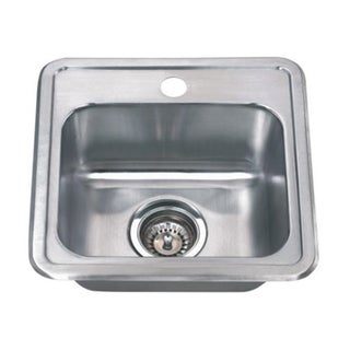 Wells Sinkware 22 Gauge Single Bowl Topmount Stainless Steel Kitchen Sink