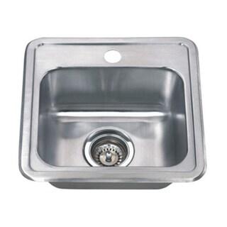Wells Sinkware 22 Gauge Single Bowl Topmount Stainless Steel Kitchen Sink