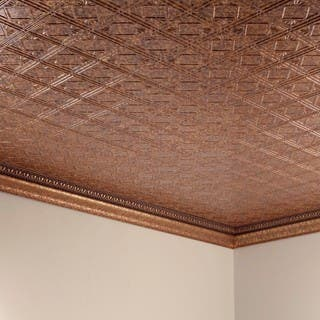 Fasade Traditional Style 4 Ed Copper 2 Ft X Glue