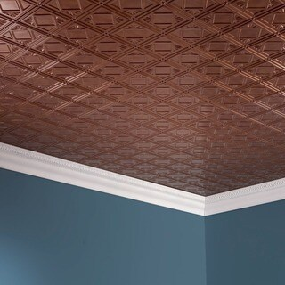 Fasade Traditional Style #4 Antique Bronze 2 ft. x 4 ft. Glue-up Ceiling Tile