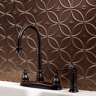 Fasade Rings Argent Bronze 18 in. x 24 in. Backsplash Panel