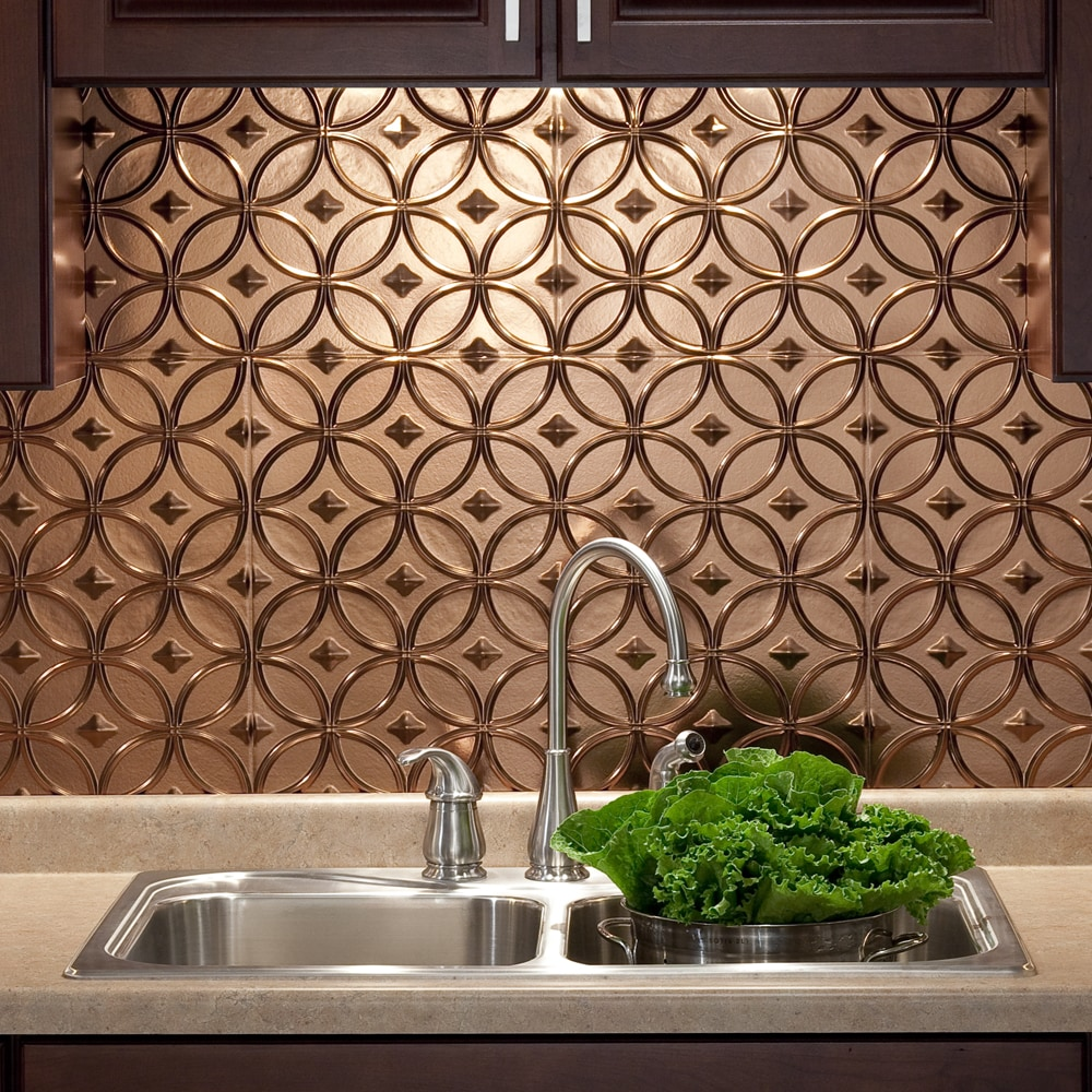 - Shop Fasade Rings Oil Rubbed Bronze 18 In. X 24 In. Backsplash