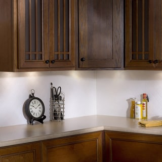 Fasade Quilted Matte White 18 in. x 24 in. Backsplash Panel