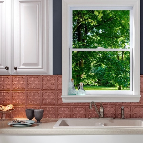 Https Www Overstock Com Home Garden Fasade Traditional Style 10 Argent Copper 18 In X 24 In Backsplash Panel 10376186 Product Html