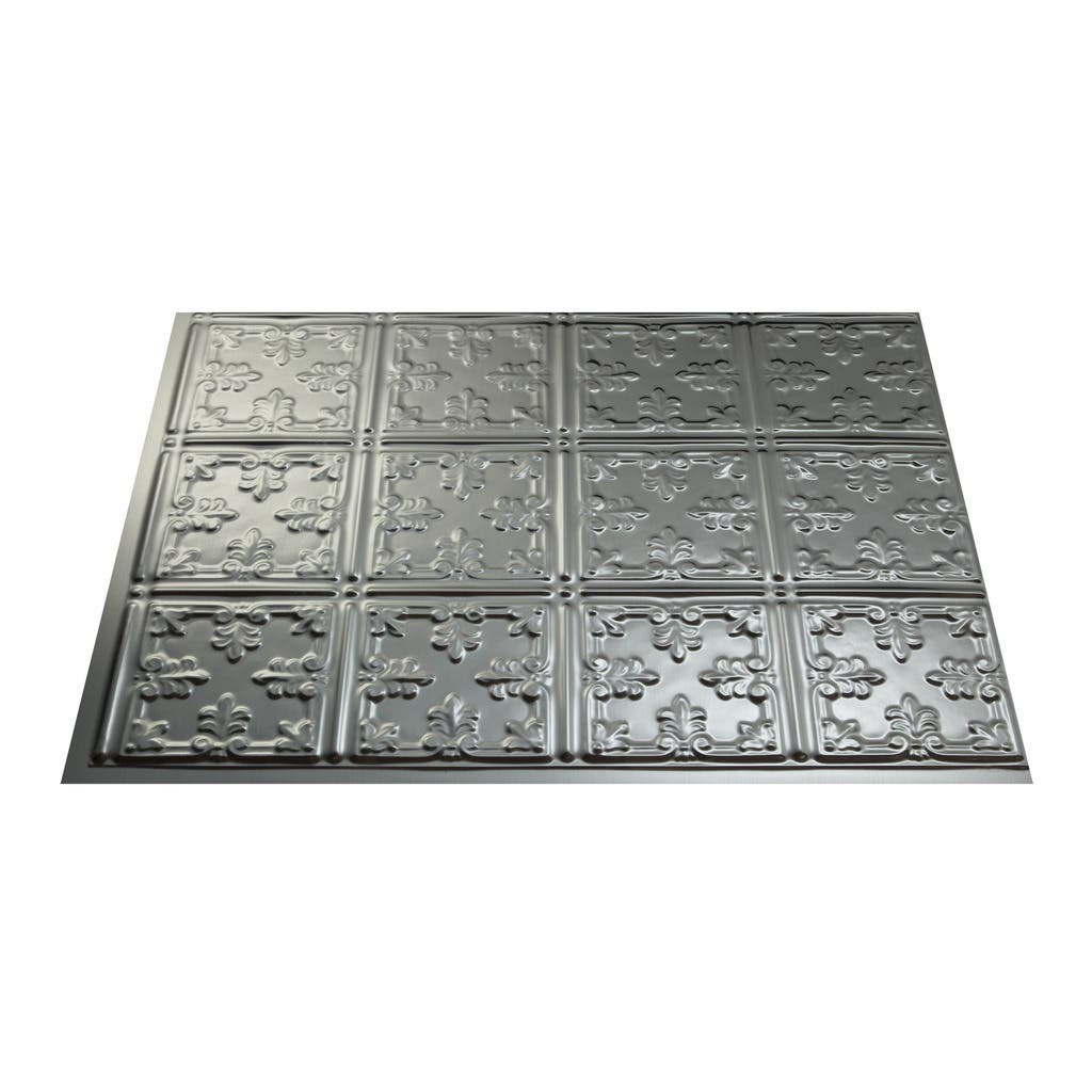 Fasade Traditional Style 10 Brushed Aluminum 18 In X 24: Buy Backsplash Tiles Online At Overstock