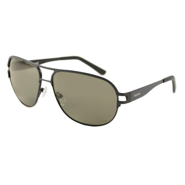 e0e85ecf3de55 Shop Timberland Men s TB9503 Polarized  Aviator Sunglasses - Free ...