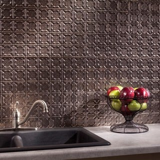 Fasade Traditional Style #6 Brushed Nickel 18 in. x 24 in. Backsplash Panel