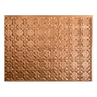 Fasade Traditional Style 4 Argent Copper Backsplash Panel