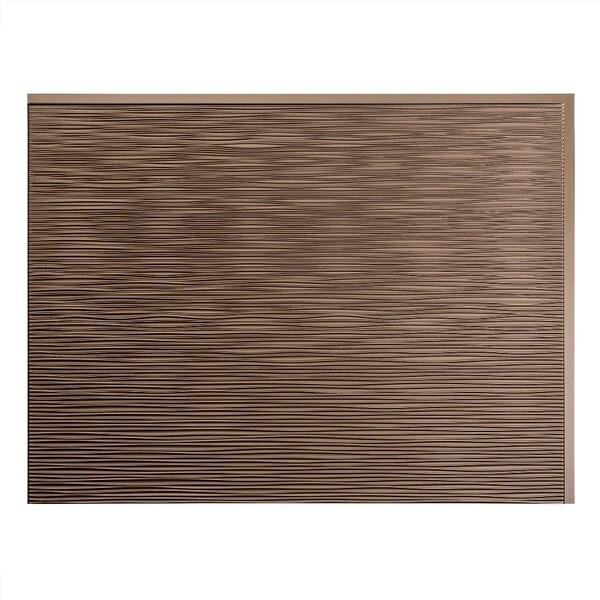 fasade ripple argent bronze 18 in x 24 in backsplash
