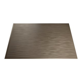 Fasade Ripple Argent Bronze 18 in. x 24 in. Backsplash Panel